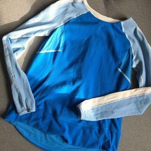 Lululemon bold in cold 6 Blue fleece reflective